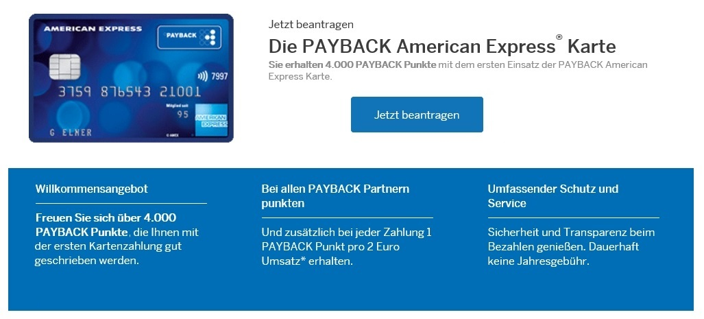 Payback Karte Beantragen.40 Prämie Für Die Payback Karte Von American Express